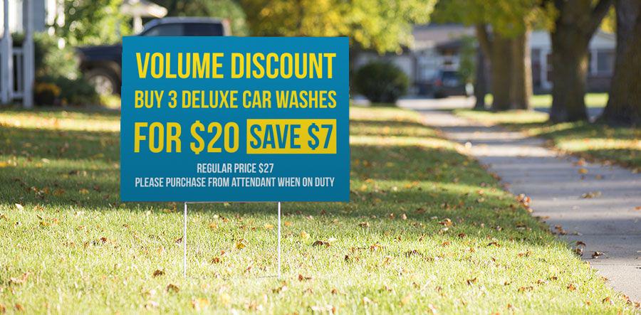 Car Wash Ad Sign
