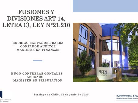 Fusiones y Difusiones ART.14 /Webinar Universidad de Talca