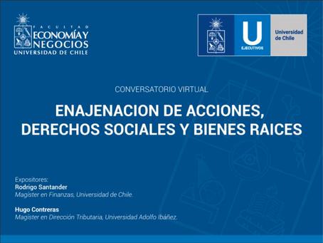 Enajenación de Acciones, Derechos Sociales y Bienes Raíces.