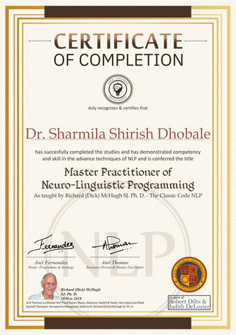 Advance Level (II) - Master Practitioner Certificate Neuro-Linguistic Programming (NLP)