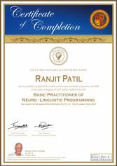Basic Practitioner Certificate Neuro-Linguistic Programming (NLP)