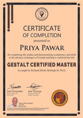 Gestalt Psychology and Therapy (Level II) Gestalt Certified Master (GCM)