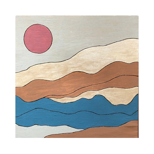 DIY Burn and Brush Wood Painting Kit Sun Landscape