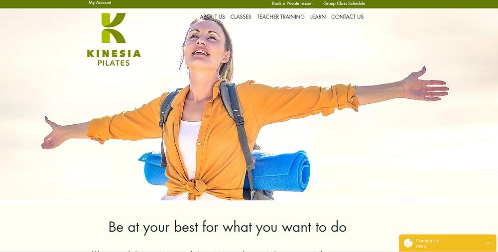 Wix website examples Kinesia Pilates