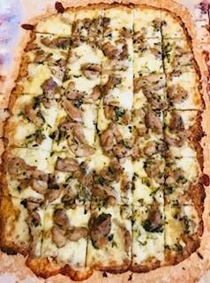 Tarragon Chicken Pizza with Cauliflower Pizza Crust  from Bridget