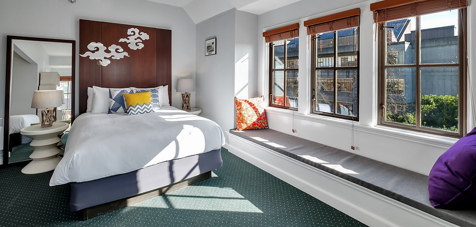 A premium room at the College in Seattle's University District