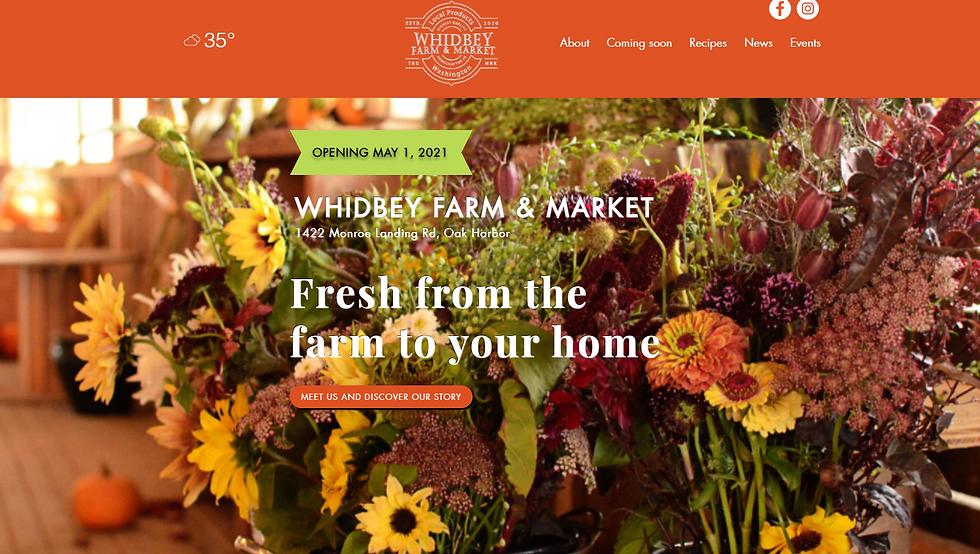 Farm Market website designed by Seattle Marketing Agency Sugarbird Marketing.