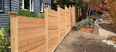 Rain City Fence Modern style with caps