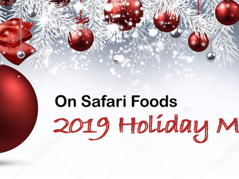 Our 2019 Holiday Menu is here