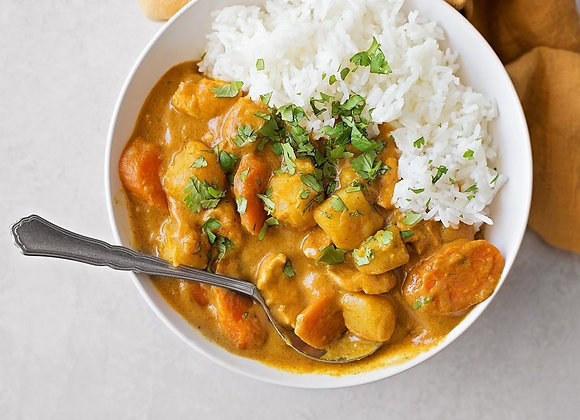 Vegetable Curry with Coconut Rice, Single Serving