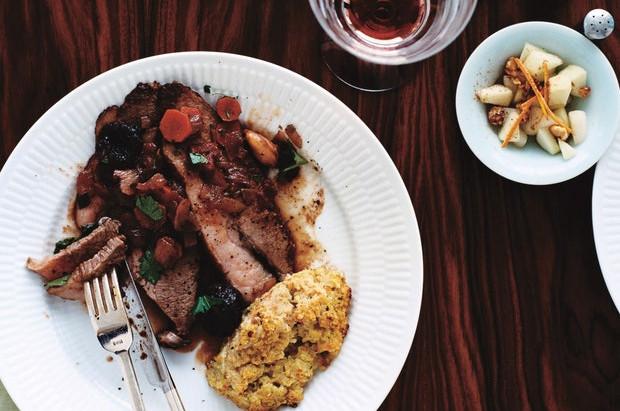 Beef Brisket with Merlot and Prunes