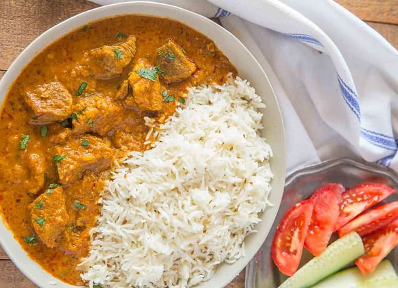 Lamb Curry with Coconut Rice, Single Serving
