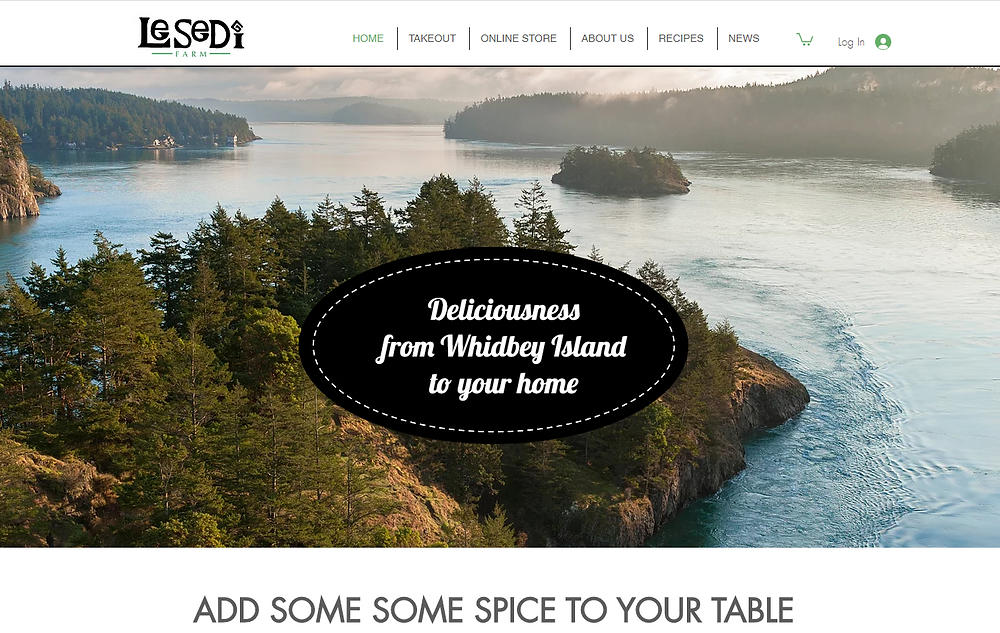 Wix website examples Lesedi Farm
