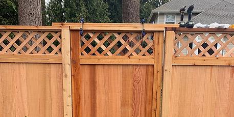 Rain City Fence diagonal lattice top wit
