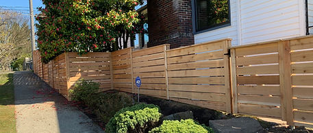 Rain City Fence Modern style without cap