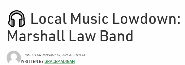 Marshall Law Band Press coverage