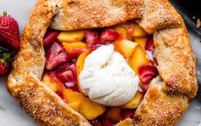 Apricot-and-Strawberry Galette
