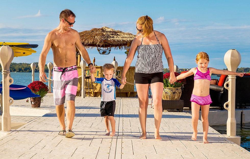 Family on Wavearmor Floating Docks