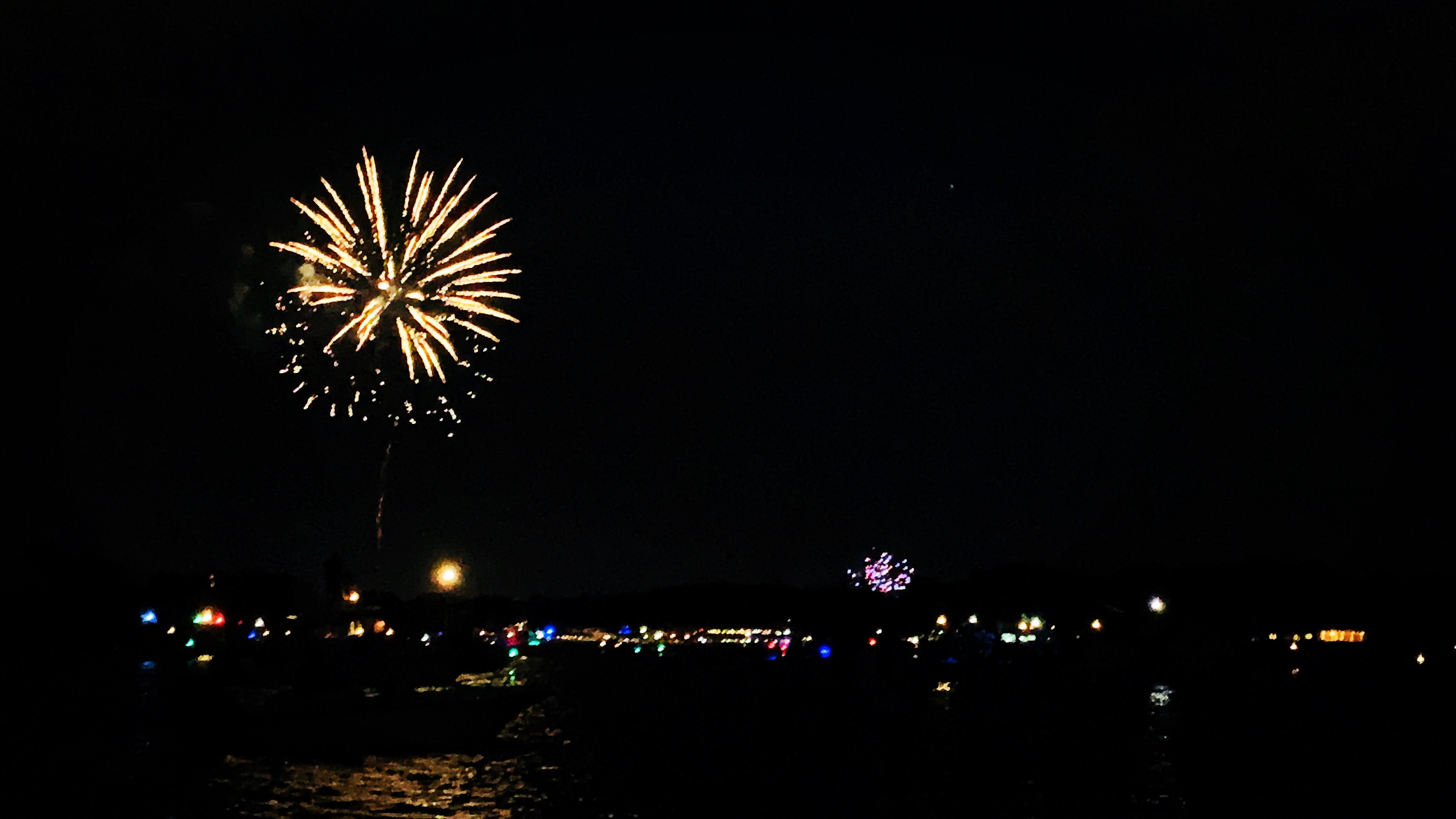 4th of July fireworks from the boat