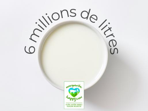 6 millions de litres de lait