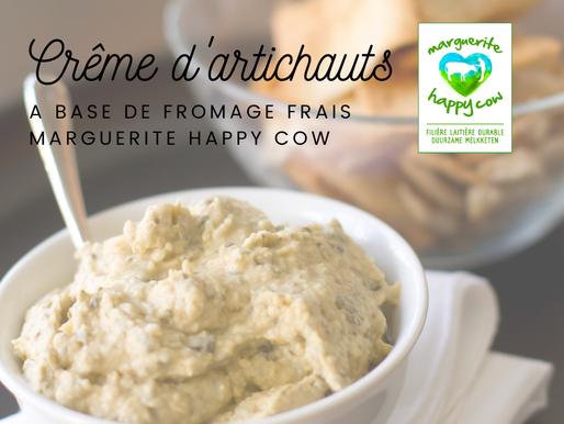 Recette: crème d'artichauts au fromage Marguerite ✨