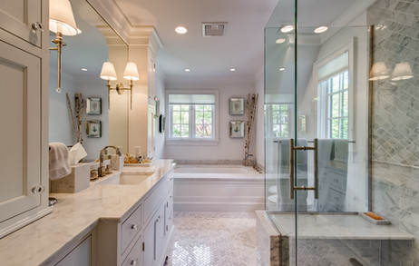 Master Bathroom - French Normandy Tudor