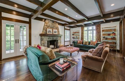 Living Room - French Normandy Tudor