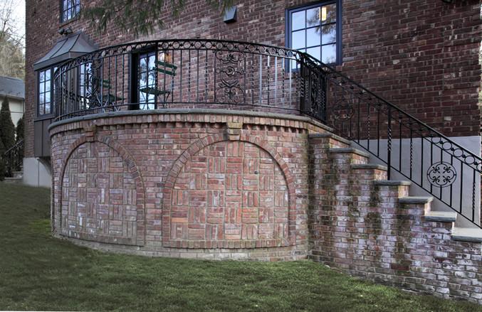 Corbelled Brick Deck