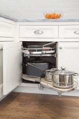Corner Cabinet Swivel Storage Shelves