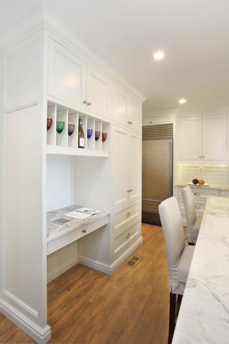 Custom Millwork - Storage Shelves w/ Desk/Serving Area