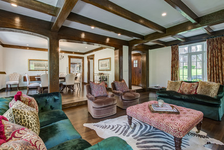 Formal Living & Dining Rooms - French Normandy Tudor