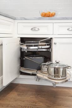 Corner Cabinet Swivel Shelves
