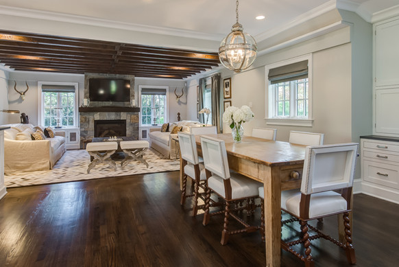 Dining Room / Family Room - French Normandy Tudor