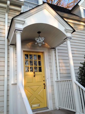 Custom Yellow Front Door