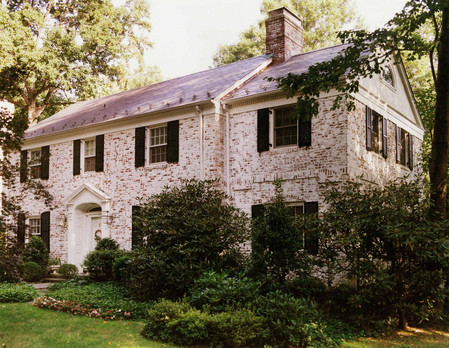 Pale Red-Brick Colonial