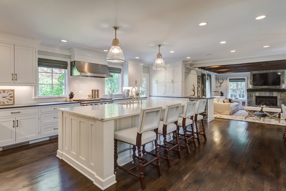 White Kitchen / Great Room - French Normandy Tudor