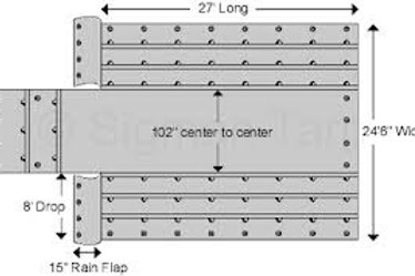 """Flat-bed Tarp 24'6"""" x 27'"""