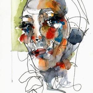 _Our Mother, Hagar _ - 13 x 19 watercolo