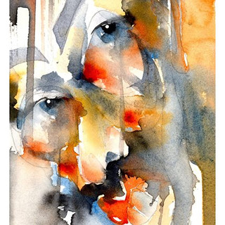 _ Father _ 15 in x 20 in watercolor pigm