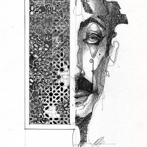 _Uncle Hisham_ 8 in x 10 in Graphite on