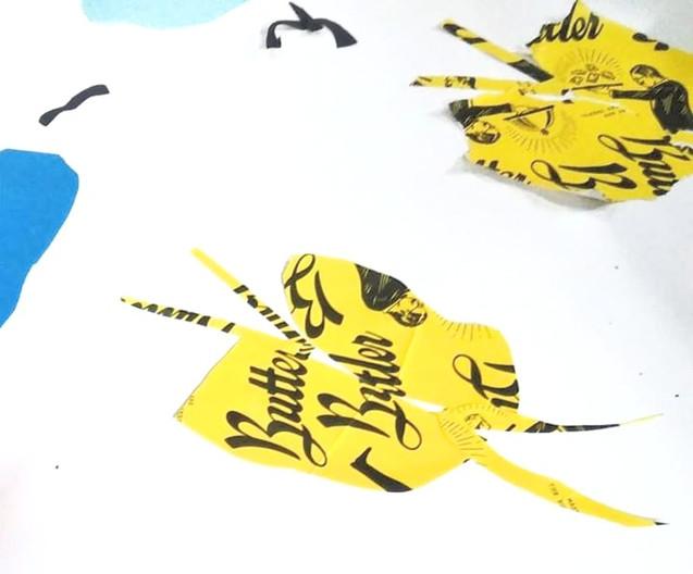 Amazing cutting of butterflies
