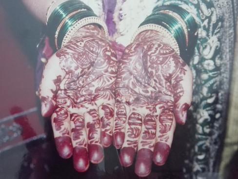 Beautiful hand decoration