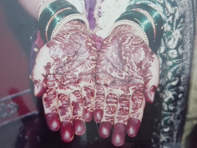 Beautiful hand decoration