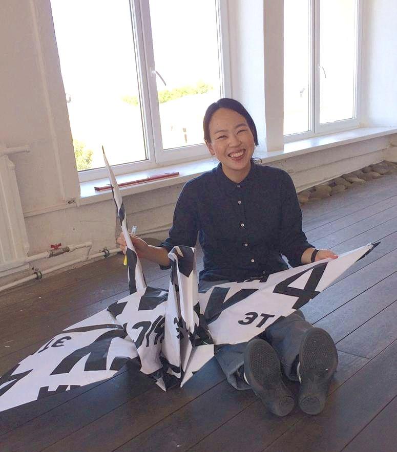 巨大折鶴完成