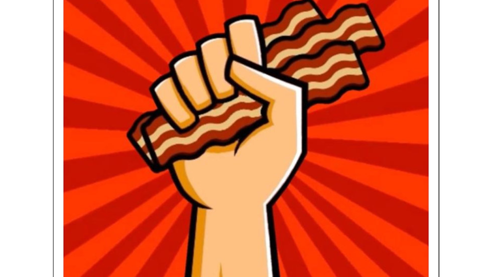 BaconHawk Logo Square Stickers
