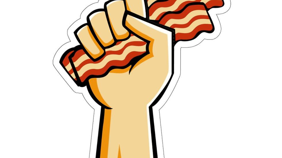 Bacon Hand Trim-Cut Stickers