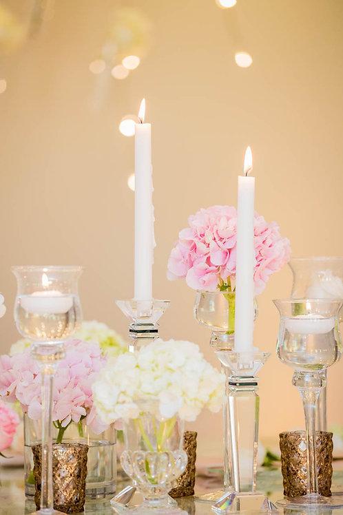 Glass Tall Candlestick