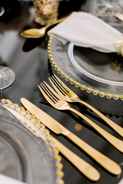 Gold Cutlery (Knife, Fork, Spoon)