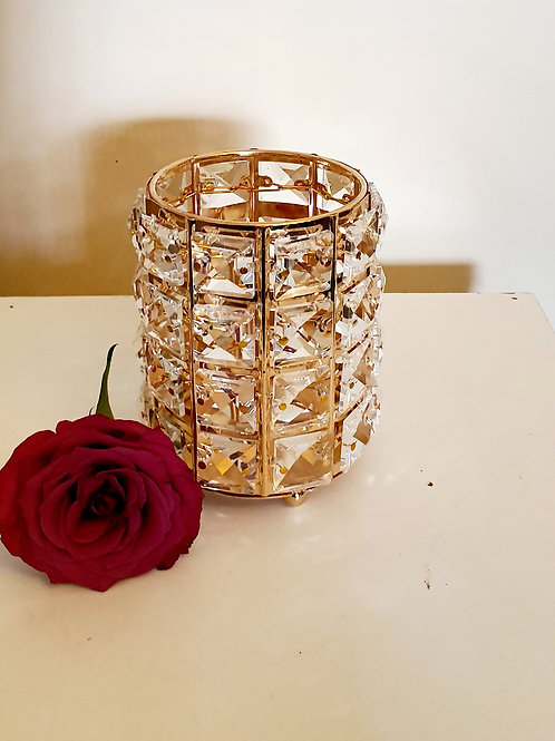 Rose Gold Crystal Lampshade