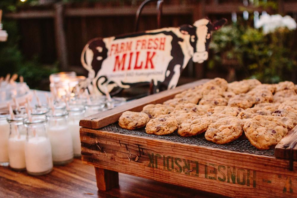 Peanut Butter Chocolate Chip Oatmeal Cookies & Milk
